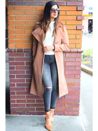 「Pale Grey Rip Darcy Ankle Grazer Jeans(no brand)」 using this Ayesha Sid looks