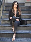 「H&M - Biker Jacket - Black - Ladies(H&M)」 using this Ayesha Sid looks