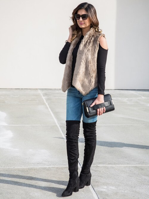「Women's Steve Madden Isaac Over The Knee Boot(Steve Madden)」 using this Ayesha Sid looks
