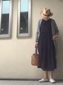 mariさんの「DOORS リバーシブルギャザーワンピース(URBAN RESEARCH DOORS WOMENS|アーバンリサーチ ドアーズ ウィメンズ)」を使ったコーディネート