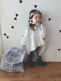 yusa☺︎さんの「【神戸店OPEN記念限定】LIMITED MARCHE BAG BLUE(TODAY'S SPECIAL|トゥデイズスペシャル)」を使ったコーディネート