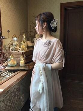 m.soeur京都アトリエ|m.soeurさんの「リボンとお花のクリップ(m.soeur)」を使ったコーディネート