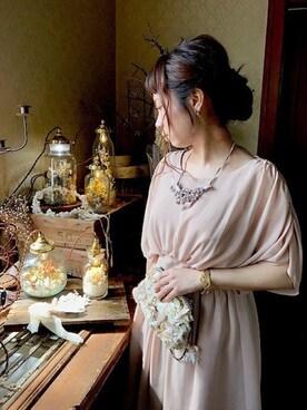 m.soeur京都アトリエ|m.soeurさんの「すずらんのネックレス*(m.soeur)」を使ったコーディネート