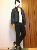 nouchiさんの「MEN スウェットフルジップパーカ(長袖)(ユニクロ|ユニクロ)」を使ったコーディネート