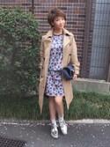 Akika Murataさんの「<HYKE(ハイク)> トレンチ コート■■■†(HYKE|ハイク)」を使ったコーディネート