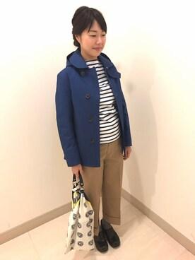 Bshop 博多店|永石さんの「2WAY 丸襟コート WOMEN(ORCIVAL)」を使ったコーディネート