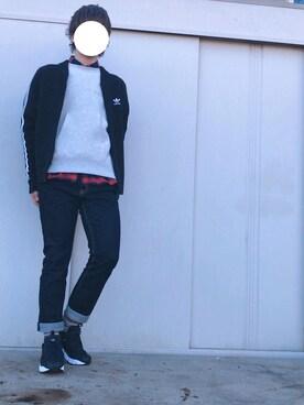 りょうさんの(adidas|アディダス)を使ったコーディネート