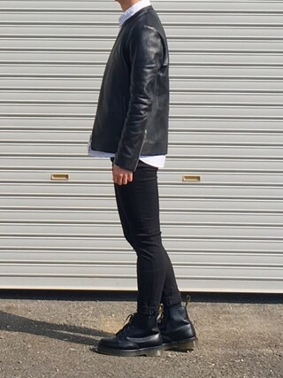「Acne Studios - Skin 5 Mid-rise Skinny Jeans - Black(Acne Studios)」 using this H. looks