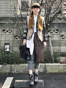 輪廻愛さんの(SUNAOKUWAHARA|スナオクワハラ)を使ったコーディネート