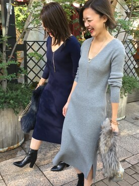 Loungedress Loungedressスタッフさんのネックレス「2連パールリングネックレス(Loungedress 
