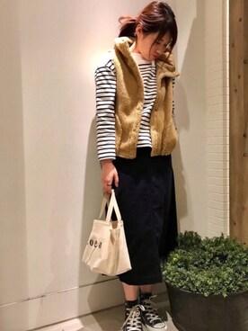 coen町田店|coen さかいさんの「【追加予約】フーデッドボアベスト(coen)」を使ったコーディネート
