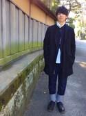 Taisukeさんの「by∴ メルトン チェスターコート(BEAUTY&YOUTH UNITED ARROWS|ビューティアンドユースユナイテッドアローズ)」を使ったコーディネート