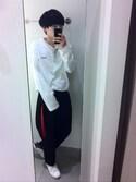 RYUMAさんの「★2016秋冬モデル★オリジナルス スタンスミス [STAN SMITH](adidas originals|アディダスオリジナルス)」を使ったコーディネート