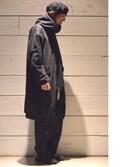 Makoto Kawabayashiさんの「【別注】<KIJIMA TAKAYUKI(キジマ タカユキ)> BERET(KIJIMA TAKAYUKI|キジマ タカユキ)」を使ったコーディネート