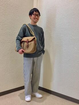 Bshop 博多店|Bshop横浜店さんのニット/セーター「ルーズ ポケットニット MEN(crepuscule|クレプスキュール)」を使ったコーディネート
