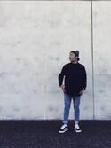 Mamoru   otaさんの「VANS ヴァンズ OLD SKOOL オールドスクール V36SCL BLACK(VANS|バンズ)」を使ったコーディネート