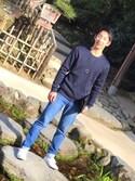 HAYATOさんの「【WEB限定】レザー調クラッチバッグ(tk.TAKEO KIKUCHI|ティーケータケオキクチ)」を使ったコーディネート