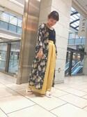 Misa Hashimotoさんの「BY∴ リバティプリント ギャザーロングワンピース -2WAY-(BEAUTY&YOUTH UNITED ARROWS|ビューティアンドユースユナイテッドアローズ)」を使ったコーディネート