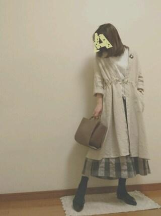K☆AYAさんの「麻ウールワイドパンツ(TSUHARU by Samansa Mos2 ツハルバイサマンサモスモス)」を使ったコーディネート