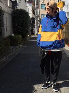 ビームス 阿倍野|KONNO/BEAMSさんのブルゾン「VAPORIZE / Anorak Hoodie(VAPORIZE|ヴェイパライズ)」を使ったコーディネート