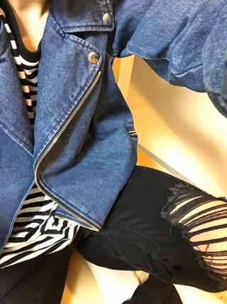 YUUTAさんの「WEGO/デニムライダースジャケット(WEGO|ウィゴー)」を使ったコーディネート
