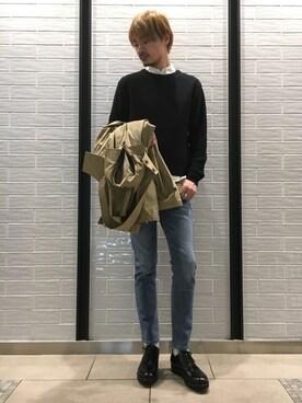 ●ROSSOソラリアプラザ福岡店 managoさんの「ROSSO MEN 無地オックスフォードB.Dシャツ(URBAN RESEARCH ROSSO MEN アーバンリサーチ ロッソメン)」を使ったコーディネート