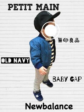 ..n a a..さんの(babyGAP|babyGAP)を使ったコーディネート
