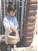 api*さんの「RODE SKO SOL バンダナ付横型かごバッグ(RODE SKO|ロデスコ)」を使ったコーディネート
