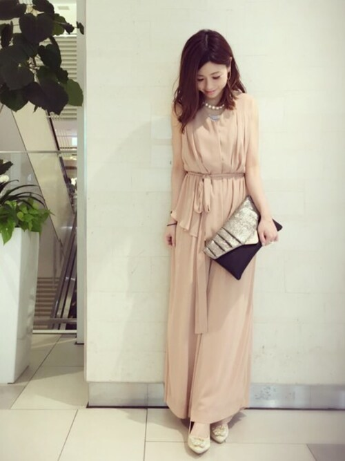 結婚式服装ピンク