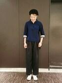 sotangさんの「G.Iロングベルト(JUNRed|ジュンレッド)」を使ったコーディネート