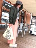 arisuさんの「マルシェバッグ / Marche Bag(TODAY'S SPECIAL トゥデイズスペシャル)」を使ったコーディネート