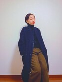 Reina  Ohnoさんの「WOOL/Ny フラノ クロップド ワイドパンツ#(JOURNAL STANDARD relume|ジャーナルスタンダード レリューム)」を使ったコーディネート