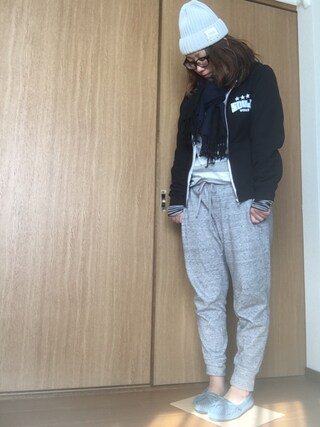 nami☆Yさんの「【MINNETONKA】ミネトンカ KILTY/キルティー スエード モカシン(Minnetonka ミネトンカ)」を使ったコーディネート