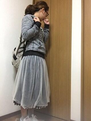nami☆Yさんの「adidas アディダス STAN SMITH スタンスミス M20325 ABC-MART限定 RWHI/RWHI/NEWNAV(adidas アディダス)」を使ったコーディネート