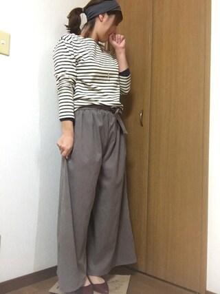 nami☆Yさんの「【足幅ゆったり3E】ポインテッドトゥローヒールパンプス(RANDA ランダ)」を使ったコーディネート