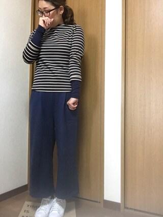 nami☆Yさんの「MINIMAL CUT ガウチョPT(SLY スライ)」を使ったコーディネート