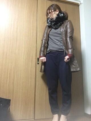 nami☆Yさんの「MEN ジョガーパンツ(ユニクロ ユニクロ)」を使ったコーディネート