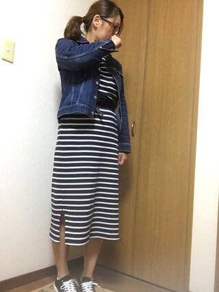 nami☆Yさんの「D.M.G./ディーエムジー セルビッジデニムジャケット (175)(D.M.G. ドミンゴ)」を使ったコーディネート