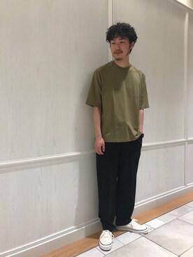 Bshop 有楽町ルミネ店 YOSHIOKAさんの「イージーファティーグパンツ RMV MEN(Bshop)」を使ったコーディネート