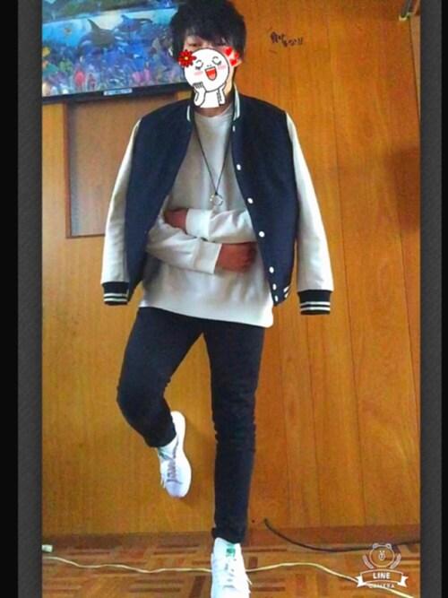 fuluu(復活)さんの「◆雑誌【FINEBOYS】12月号掲載◆ウールスタジャン/550183(RAGEBLUE)」を使ったコーディネート