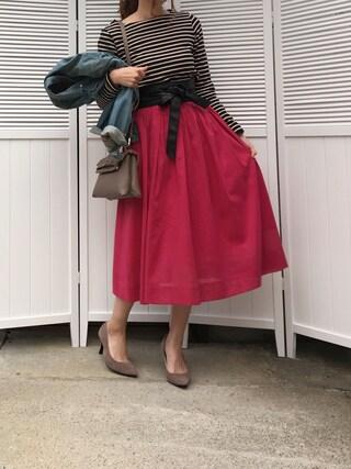 「ボイルギャザースカート(TONAL)」 using this moyooonn looks