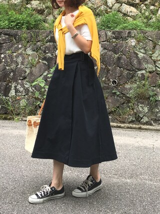 「BAYFLOW/カツラギラップスカート(BAYFLOW)」 using this moyooonn looks