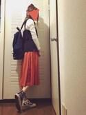 まりぺさんの「【ViVi掲載】X-girl×CONVERSE BANDANA ALL STAR HI /コンバース/ハイカット/バンダナ柄/ペイズリー柄/ロゴ/エックスガール/スニーカー/コラボ(CONVERSE|コンバース)」を使ったコーディネート
