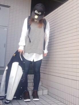 youkiさんの「Washington SQ Backpack -ワシントンスクエア バックパック-(Manhattan Portage|マンハッタンポーテージ)」を使ったコーディネート