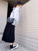 youkiさんの「WEGO/カラー起毛プルパーカー(WEGO|ウィゴー)」を使ったコーディネート