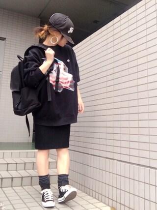 youkiさんの「グロスカラータイトスカート(EMODA|エモダ)」を使ったコーディネート