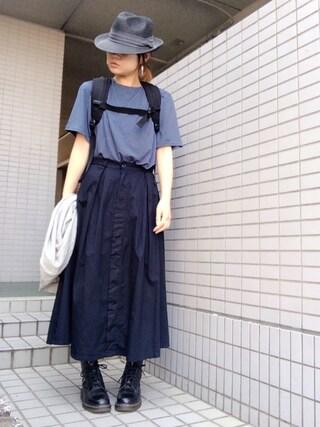 youkiさんの「ペーパーナカオレHAT(IENA SLOBE|スローブイエナ)」を使ったコーディネート