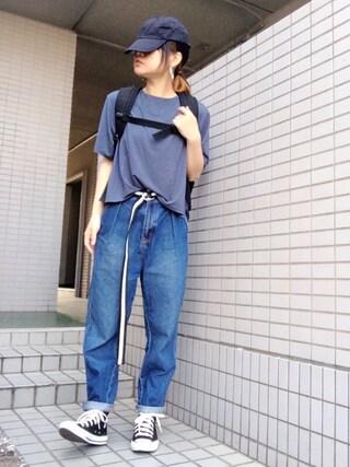 youkiさんの「Bamboo ショートTシャツ(MURUA|ムルーア)」を使ったコーディネート