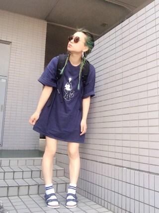 youkiさんの「日本別注■MILANO/ミラノ ビルコフローヌバック (UNISEX)(BIRKENSTOCK ビルケンシュトック)」を使ったコーディネート