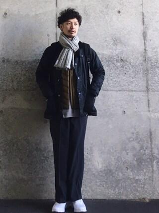 タマハジさんの「Barbour × DOORS CODELE SL BK DOORS(URBAN RESEARCH DOORS MENS|アーバンリサーチ ドアーズ メンズ)」を使ったコーディネート
